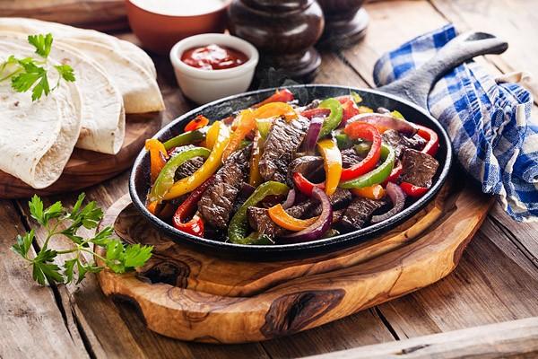 Mexican Fajitas con carne