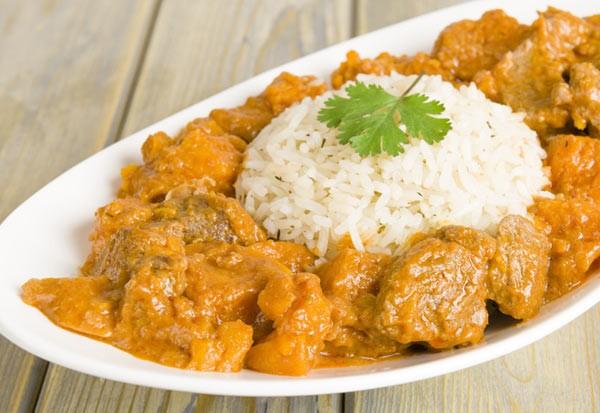Lamb and Sweet potato peanut curry