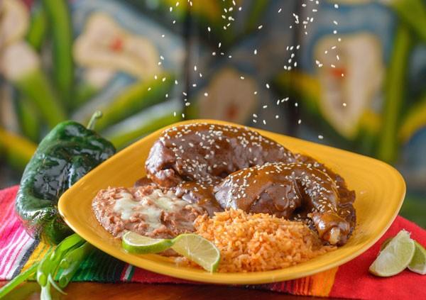 Chicken with Mole Sauce - Mole Poblano con Pollo