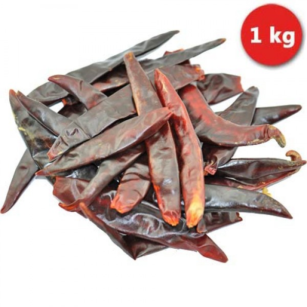 Whole dried Puya / Pulla Chillies, stemless 1kg
