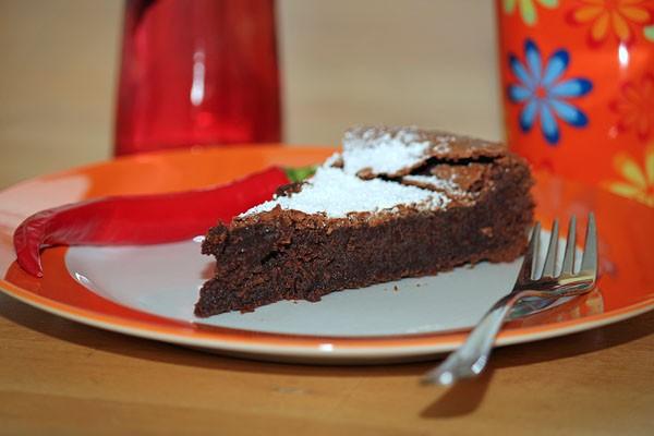 Tarte au chocolat with Chili - Chili Chocolate Cake