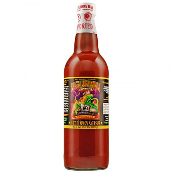Iguana Lightning Hot `n` Spicy Ketchup 720g