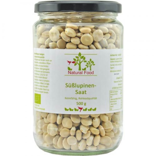 Sweet Lupine Seed, organic, raw food quality, germinable
