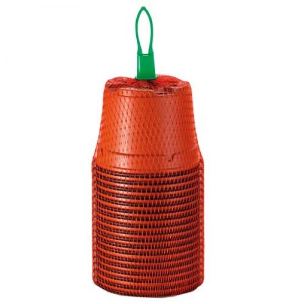 18 Terracotta Plastic Pots 9cm