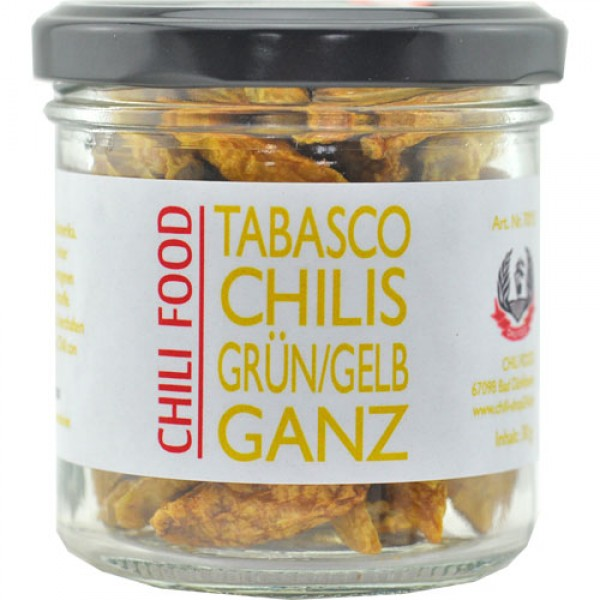 Whole Dried Yellow Tabasco Chillies