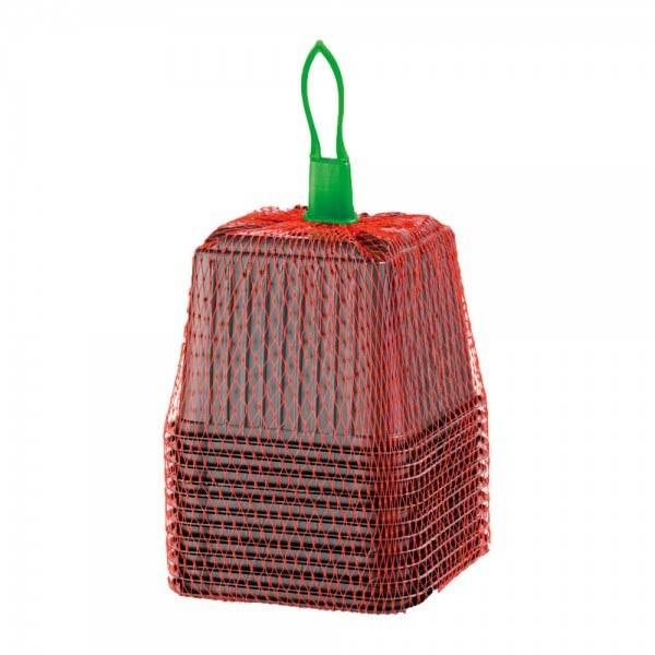 12 Square Plastic Pots 9cm