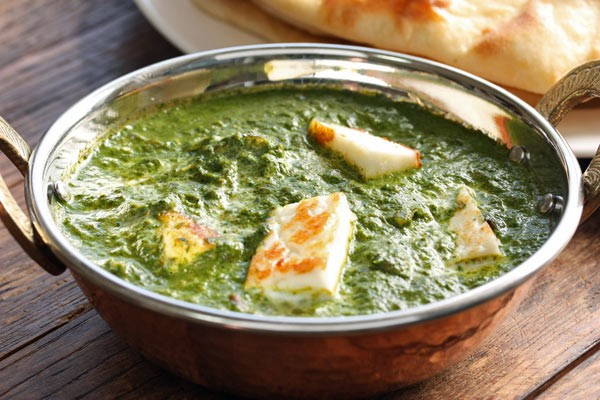 Palak Paneer - Spinach Curry with Paneer cheese