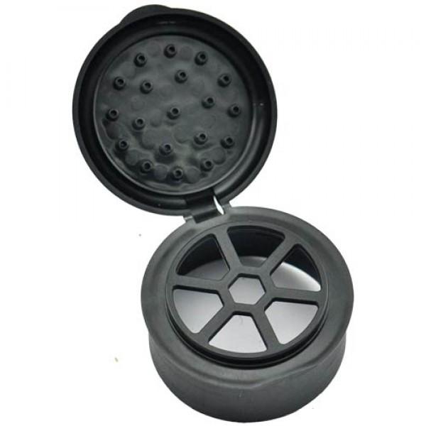 Flip-Top Lid (black) for Glass Spice Shaker