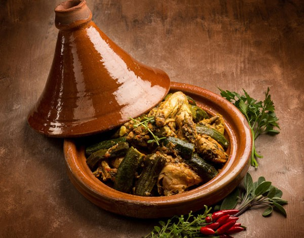 Chicken with okra from the tagine