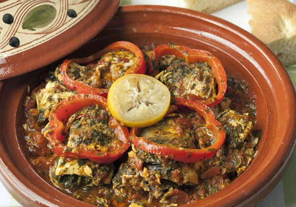 Fish tagine with chermoula