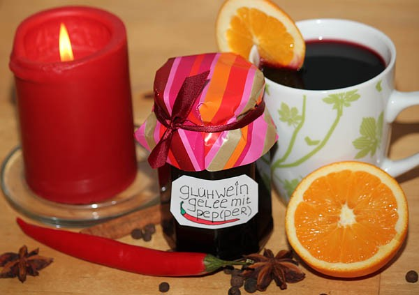 Mulled wine jelly with Chili